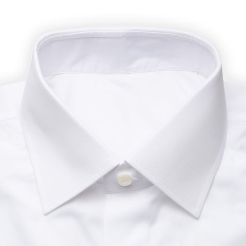 BESPOKE ATHENS Handmade White Cotton Dress Shirt EU 40 NEW US 15.75