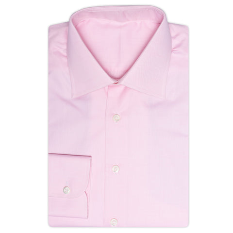 BESPOKE ATHENS Handmade Pink Cotton Dress Shirt EU 41 NEW US 16