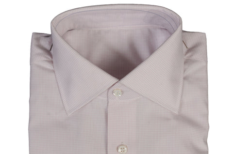 BESPOKE ATHENS Handmade Pink Plaid Cotton Dress Shirt US 15.5 NEW EU 39