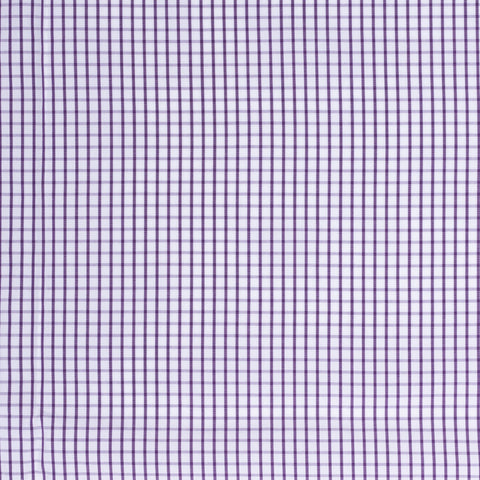 BESPOKE ATHENS Handmade Purple Plaid Cotton Dress Shirt EU 41 NEW US 16