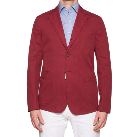 "BOGLIOLI Galleria ""74"" Crimson Cotton 4 Button Jersey Jacket EU 50 NEW US 40"