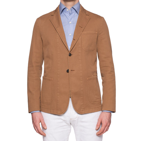 "BOGLIOLI Milano ""67"" Light Brown Cotton 4 Button Unlined Jacket EU M NEW US 40"