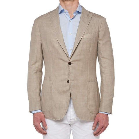 "BOGLIOLI Milano ""K. Jacket"" Beige Cashmere-Silk-Hemp Unlined Jacket 54 NEW US 44"