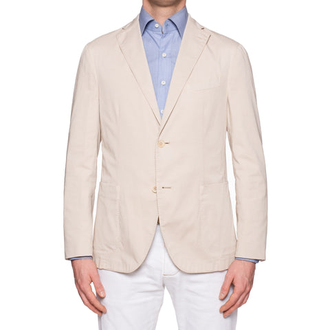 "BOGLIOLI Milano ""K. Jacket"" Beige Cotton Unlined Jacket Sport Coat 52 NEW US 42"