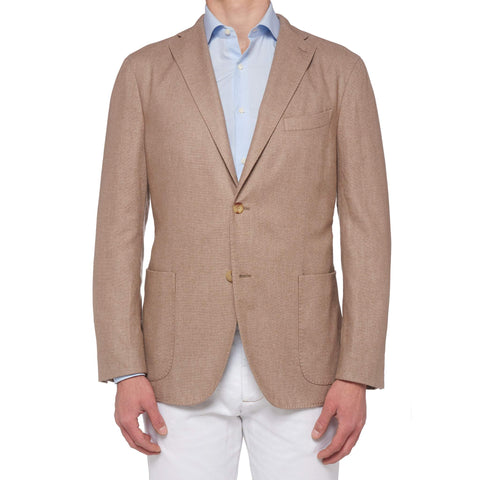 "BOGLIOLI Milano ""K. Jacket"" Beige Hopsack Cashmere Unlined Jacket 54 NEW US 44"