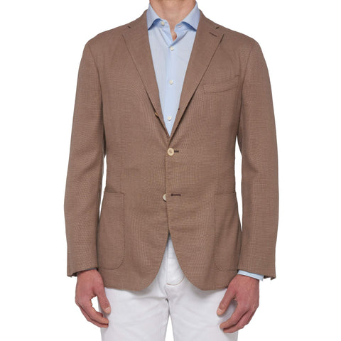 "BOGLIOLI Milano ""K. Jacket"" Beige Hopsack Wool Unlined Jacket EU 54 NEW US 44"