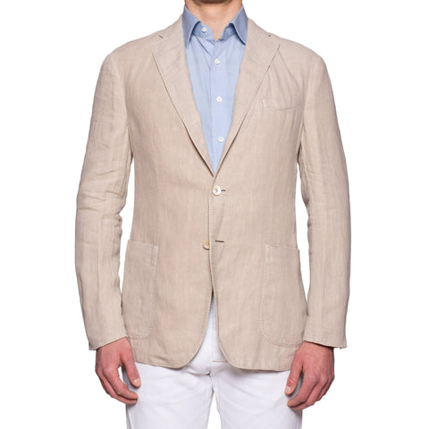 "BOGLIOLI Milano ""K. Jacket"" Beige Linen Unlined Jacket 52 NEW US 42"
