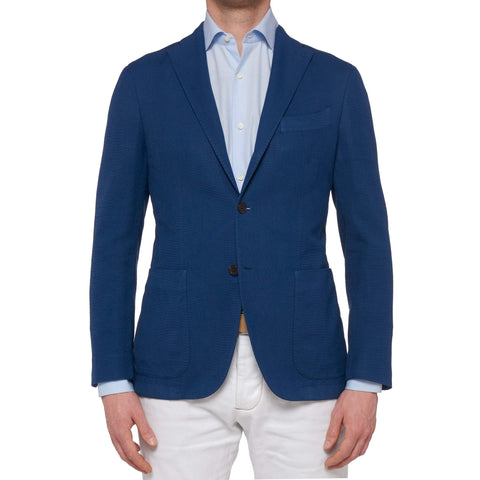 "BOGLIOLI Milano ""K. Jacket"" Blue Cotton Unlined Jacket EU 48 NEW US 38"