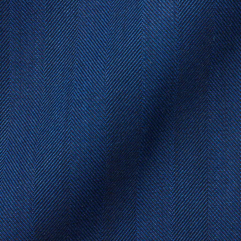 "BOGLIOLI Milano ""K. Jacket"" Blue Herringbone Wool Unlined Jacket EU 48 NEW US 38"