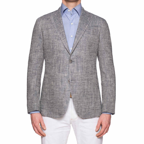 "BOGLIOLI Milano ""K. Jacket"" Blue Silk-Linen Unlined Jacket Sport Coat NEW"