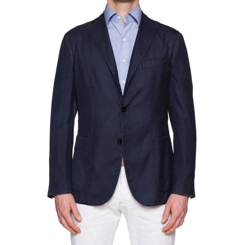 "BOGLIOLI Milano ""K.Jacket"" Navy Blue Cashmere-Silk Unlined Jacket 50 NEW US 40"