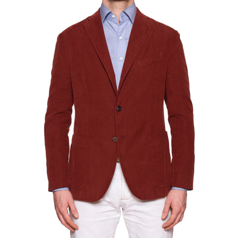 "BOGLIOLI Milano ""K.Jacket"" Crimson Baby Corduroy Cotton Unlined Jacket 50 NEW 40"