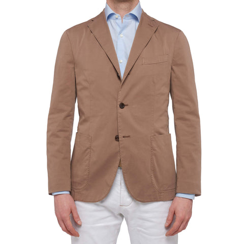 "BOGLIOLI Milano ""K. Jacket"" Dark Tan Garment Dyed Cotton Unlined Jacket NEW"