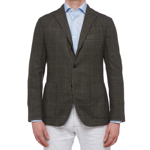 "BOGLIOLI Milano ""K. Jacket"" Gray Houndstooth Wool Unlined Jacket EU 48 NEW US 38"