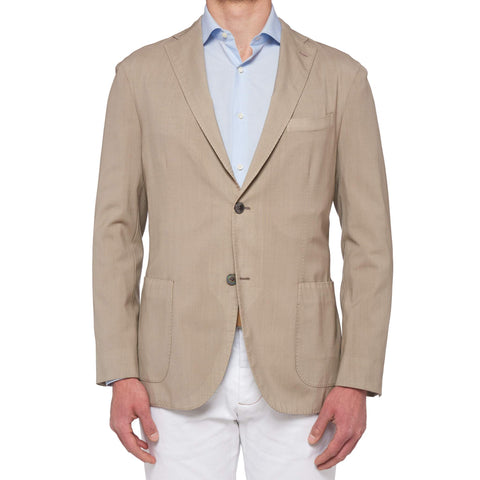 "BOGLIOLI Milano ""K. Jacket"" Sand Beige Virgin Wool Unlined Jacket 52 NEW US 42"
