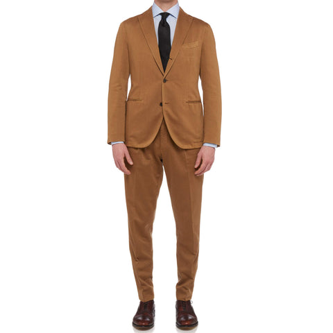 "BOGLIOLI Milano ""K. Jacket"" Tan Cotton-Cashmere Unlined Suit EU 50 NEW US 40"