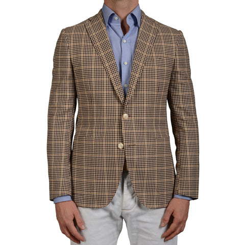 "BOGLIOLI ""Hampton"" Brown Paid Mohair-Wool-Cotton-Cashmere Jacket EU 50 NEW US 40"