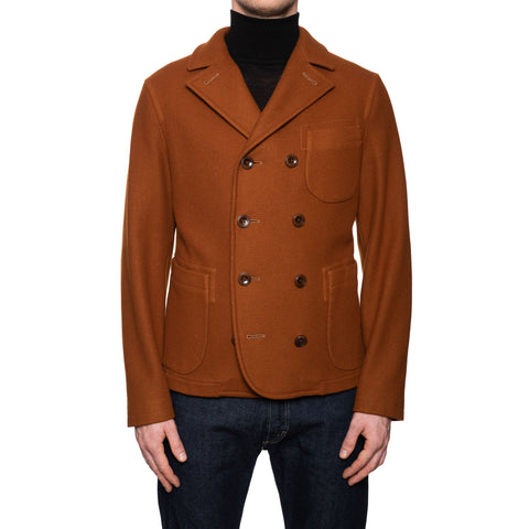BOGLIOLI Milano Burnt Wool Unlined Pea Coat EU 50 NEW US M