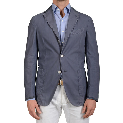 "BOGLIOLI Milano ""Coat"" Blue Cotton Unlined Summer Jacket EU 50 NEW US 40 Defect"