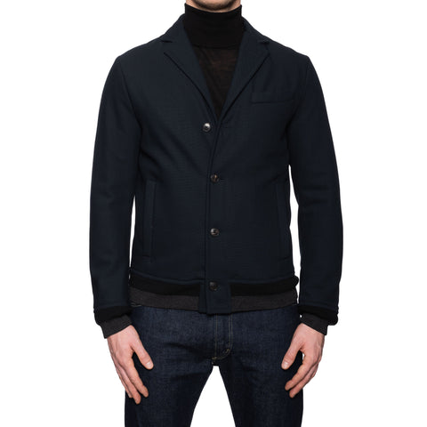 BOGLIOLI Milano Blue Wool Blend Jacket EU 48 NEW US S