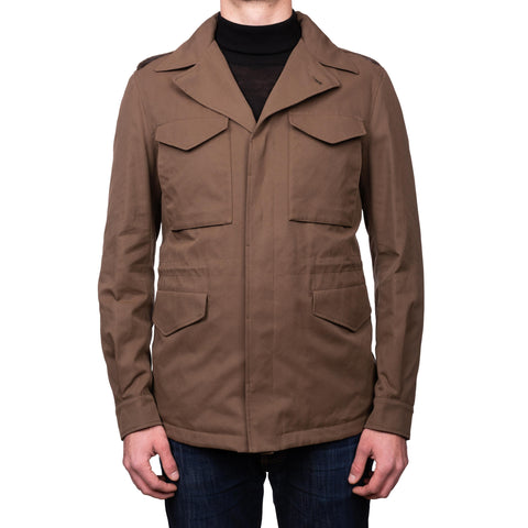 BOGLIOLI Milano Khaki Cotton Blend Field Jacket Coat Parka EU 50 NEW US M