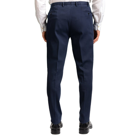 "BOGLIOLI Milano ""Wear"" Blue Cotton Flat Front Stretch Slim Fit Pants EU 56 NEW US 40"