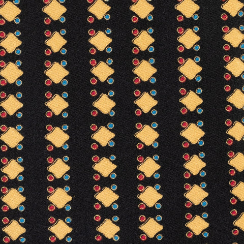 BRIONI Handmade Black Square Pin Dot Striped Silk Tie NEW