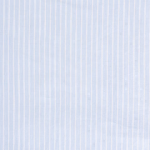 BRIONI Handmade Light Blue Striped Cotton Dress Shirt EU 45 NEW US 17.75