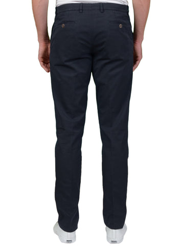 BRUNELLO CUCINELLI Navy Blue Cotton Twill Casual Pants EU 56 NEW US 40 Slim Fit