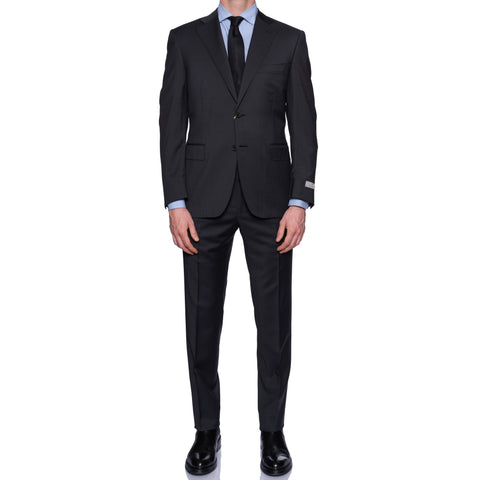 CANALI 1934 Dark Gray Wool Suit EU 56 NEW US 46 Short Fit 2019-20 Model