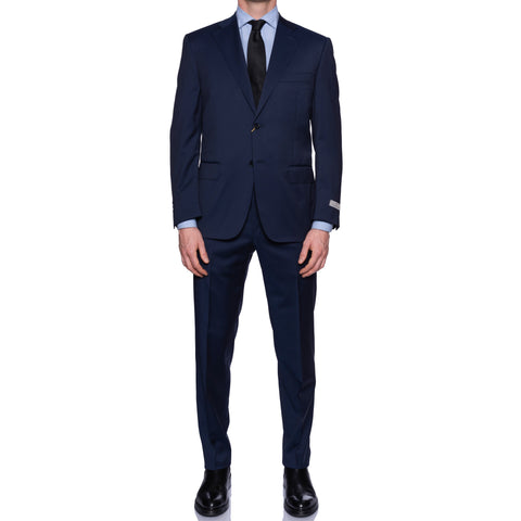 CANALI 1934 Solid Navy Blue Wool Business Suit NEW 2019-20 Model