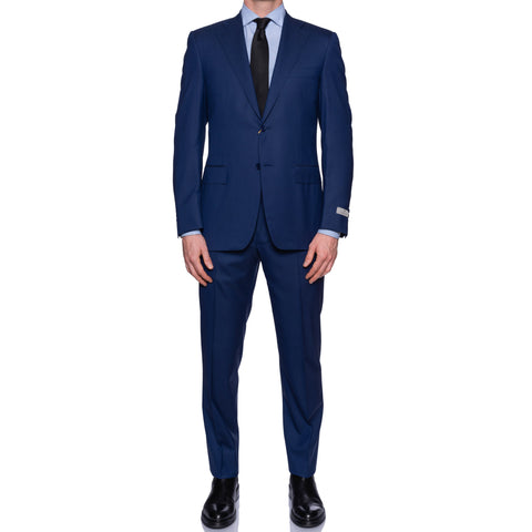 "CANALI 1934 ""Travel"" Blue Wool Wrinkle & Water-Resistant Suit NEW 2019-20 Model"