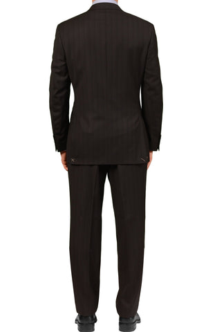 "CANALI Italy Black Striped Wool Suit Classic ""Natural Comfort"" EU 50 NEW US 40"