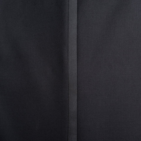 CASTANGIA 1850 Black Wool DP Tuxedo Dress Pants EU 54 NEW US 38