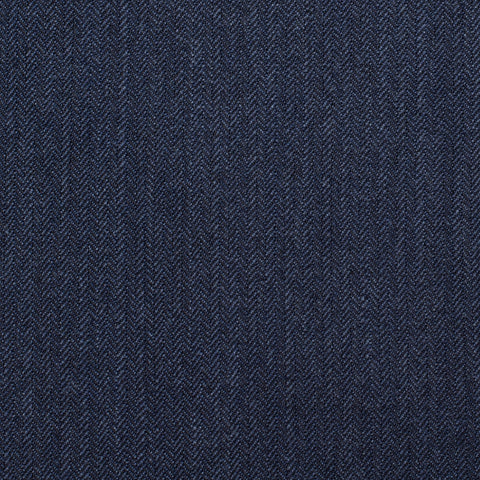 CASTANGIA 1850 Blue Herringbone Wool Super 100's Suit EU 50 NEW US 40