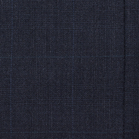 CASTANGIA 1850 Dark Blue Prince of Wales Wool Suit EU 48 NEW US 38
