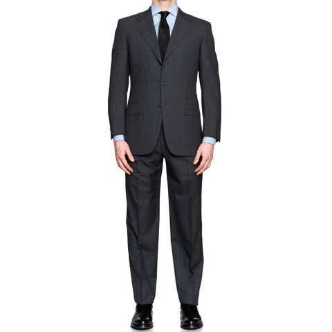 CASTANGIA 1850 Gray Plaid Wool Suit EU 48 NEW US 38