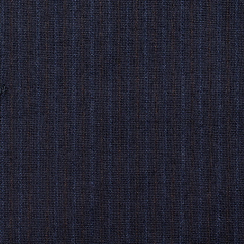 CASTANGIA 1850 Navy Blue Striped Wool Flannel Suit EU 50 NEW US 40