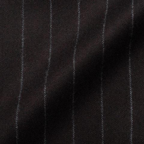 CESARE ATTOLINI Handmade Chalk Striped Wool Super 120's Flannel Suit 50 NEW 40