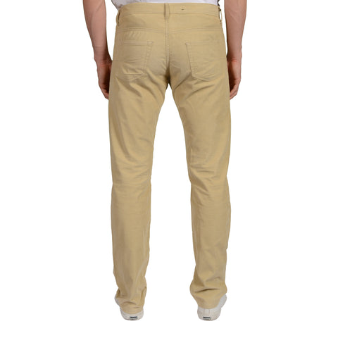 DIOR Beige Cotton Corduroy Straight Fit Jeans Pants US 33