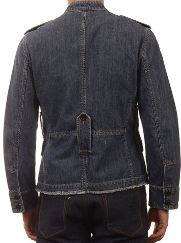 DOLCE & GABBANA Made In Italy Blue Denim Cotton Trucker Jacket EU 46 NEW US 36 - SARTORIALE - 2
