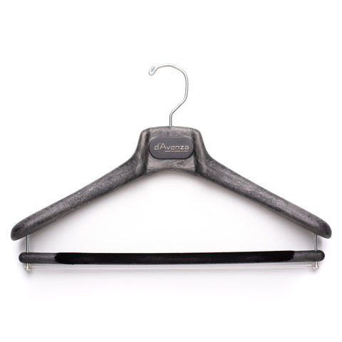 D'AVENZA Mainetti Black Suit Hanger Flocked Bar Set of 5 40/S 43/M-L 46/XL
