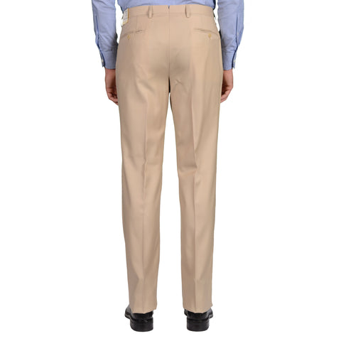 D'AVENZA Roma Beige Wool DP Dress Pants EU 50 NEW US 34 Classic Fit