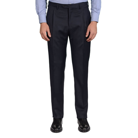 "D'AVENZA Roma ""Berti"" Dark Blue Wool SP Dress Pants EU 50 NEW US 34 Classic Fit"