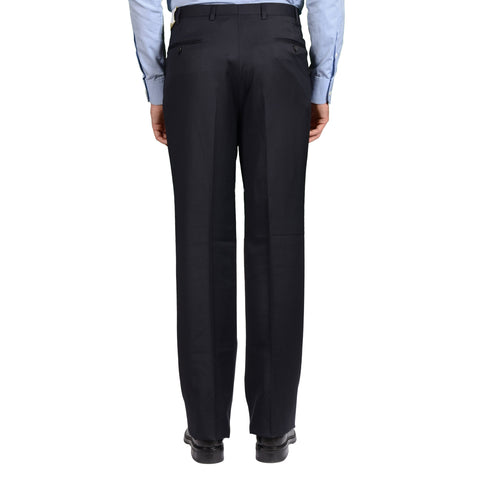 D'AVENZA Roma Dark Blue Wool Triple Pleated Dress Pants 54 NEW US 38 Classic Fit