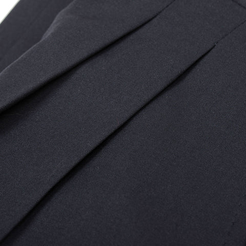 D'AVENZA Roma Handmade Anthracite Blue Wool DP Dress Pants NEW Classic Fit
