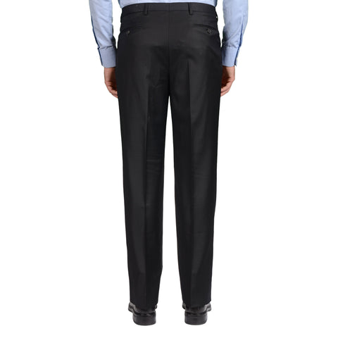 D'AVENZA Roma Handmade Black Wool Double Pleated Dress Pants NEW Classic Fit