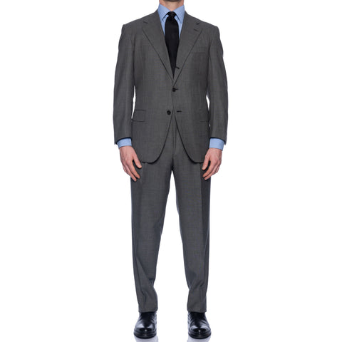 D'AVENZA Roma Handmade Gray Wool Suit EU 50 NEW US 40 Defect
