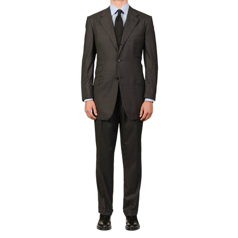 GIEVES & HAWKES Gray Wool Super 150's Suit EU 51 NEW US 40 41 Long