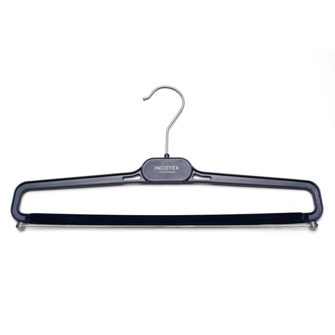 INCOTEX Blue Plastic Pants Hanger Flocked Bar Set of 5